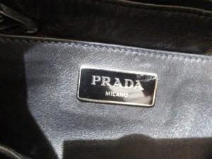 プラダ PRADA ハンドバッグ レディース - BR5131 黒 巾着/タッセル レザー【中古】