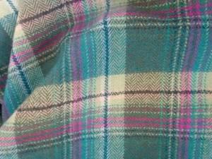 ホコモモラ JOCOMOMOLA スカート サイズ40 XL レディース グリーン×ピンク×マルチ チェック柄/フリル/切りっぱなし【中古】