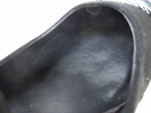 ホーキンス Hawkins パンプス 23.0 レディース 黒×ライトグレー 化学繊維【中古】