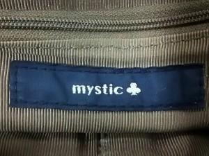 ミスティック mystic ハンドバッグ レディース ライトブラウン がま口 合皮【中古】