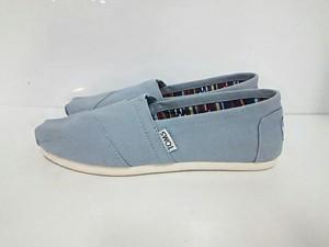 トムス TOMS 靴 W5 レディース 新品同様 ブルー キャンバス【中古】