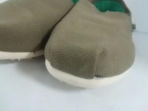 トムス TOMS 靴 10.5 メンズ 美品 カーキ キャンバス【中古】