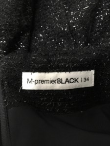 エムプルミエブラック M-premierBLACK スカート サイズ34 S レディース 美品 黒 ラメ【中古】