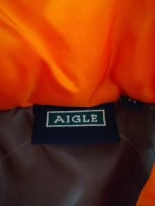 エーグル AIGLE ダウンジャケット サイズM メンズ オレンジ 冬物【中古】