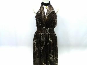2f3e83e119c98 スワローテイル Swallowtail ドレス サイズ9 M レディース 黒×マルチ 豹柄 ビジュー