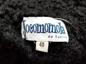 ホコモモラ JOCOMOMOLA カーディガン サイズ40 XL レディース 黒【中古】