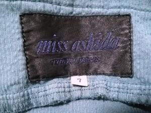 ミスアシダ miss ashida スカート サイズ7 S レディース 美品 ネイビー コーデュロイ【中古】