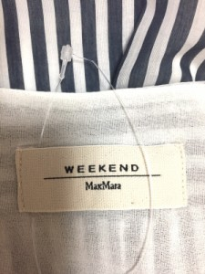 マックスマーラウィークエンド Max MaraWEEKEND ノースリーブシャツブラウス サイズ38 S レディース ネイビー×白 ストライプ【中古】