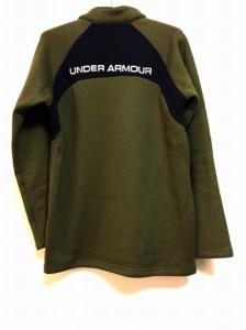 アンダーアーマー UNDER ARMOUR ブルゾン メンズ カーキ×ネイビー 春・秋物/ハーフジップ【中古】