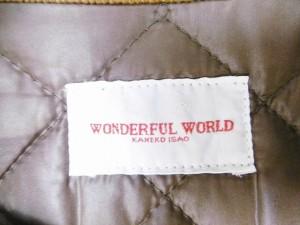 ワンダフルワールド WONDERFUL WORLD ジャケット レディース 美品 ブラウン×ライトブラウン【中古】
