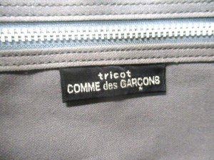 トリココムデギャルソン tricot COMMEdesGARCONS ハンドバッグ レディース グレー×黒 ウール【中古】