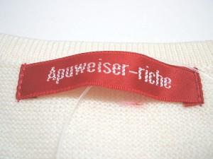 アプワイザーリッシェ Apuweiser-riche ワンピース サイズ2 M レディース アイボリー×ダークグレー×パープル ニット【中古】