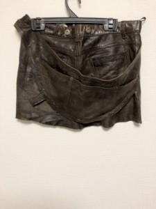 アパルトモンドゥーズィエムクラス ミニスカート サイズ36 S レディース 美品 ダークブラウン レザー【中古】
