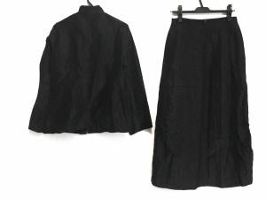 ヒロコビス HIROKO BIS スカートスーツ レディース 美品 黒 シワ加工【中古】