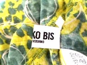 ヒロコビス HIROKO BIS 半袖カットソー サイズ11 M レディース 美品 イエロー×グリーン【中古】