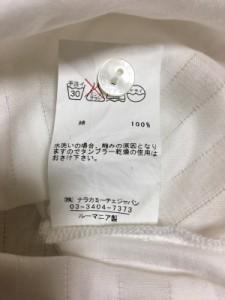 ナラカミーチェ NARACAMICIE 半袖シャツブラウス サイズ2 M レディース 白 ストライプ/リボン【中古】
