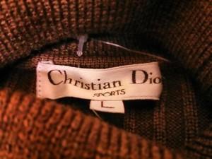 クリスチャンディオールスポーツ ChristianDiorSports 長袖セーター サイズL レディース ブラウン×オレンジ【中古】