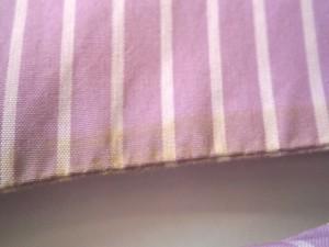 ナラカミーチェ NARACAMICIE 半袖シャツブラウス サイズ2 M レディース パープル×白 ストライプ/フリル【中古】