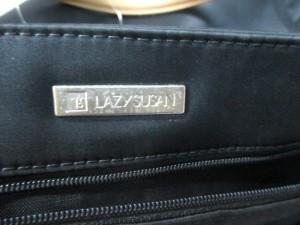 レイジースーザン LAZY SUSAN ハンドバッグ レディース 黒×ブラウン ナイロン×レザー【中古】