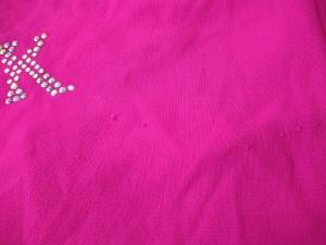 イタリヤ 伊太利屋/GKITALIYA 半袖カットソー サイズ11 M レディース ピンク ラインストーン【中古】