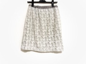 ジャスグリッティー JUSGLITTY スカート サイズ2 M レディース 美品 白×グレー レース【中古】
