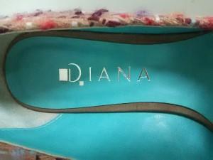 ダイアナ DIANA パンプス 23 1/2 レディース ベージュ×レッド×マルチ リボン ウール×スエード【中古】
