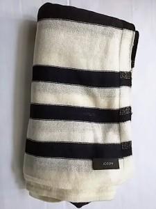 ジョセフ JOSEPH 長袖セーター サイズM レディース 美品 ダークネイビー×アイボリー×ゴールド ボーダー【中古】