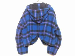 ツモリチサト TSUMORI CHISATO ジャケット サイズM レディース ブルー×黒×レッド チェック柄【中古】