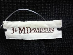 ジェイ&エムデヴィッドソン J&MDavidson ジャケット レディース 黒 ニット【中古】