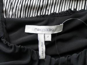 マックスアンドクレオ MaxandCleo ワンピース サイズ2 M レディース 美品 アイボリー×黒【中古】