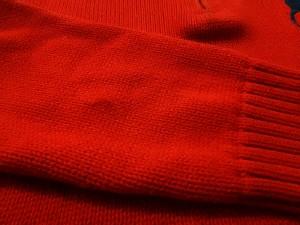 ポロラルフローレン POLObyRalphLauren 長袖セーター サイズXL メンズ ビッグポニー レッド×ネイビー ハーフジップ【中古】