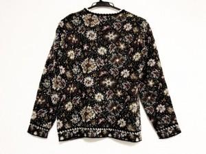 ミッソーニ MISSONI 長袖セーター サイズ42 M レディース 美品 白×黒×マルチ Vネック【中古】