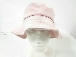 ミエコウエサコ M・U・ SPORTS 帽子 レディース ピンク コットン×麻【中古】
