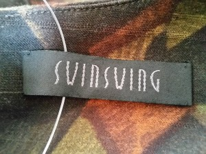 スウィンスウィング SWINSWING ワンピース サイズ40 M レディース ダークグレー×ダークブラウン×マルチ【中古】