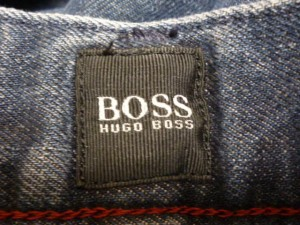 ヒューゴボス HUGOBOSS ジーンズ サイズ34 S メンズ ネイビー REGULAR FIT【中古】