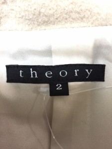 セオリー theory コート サイズ2 S レディース ベージュ 冬物【中古】