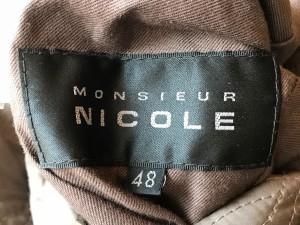 ムッシュニコル monsieur NICOLE ダウンジャケット サイズ44 L メンズ グレーカーキ リバーシブル【中古】