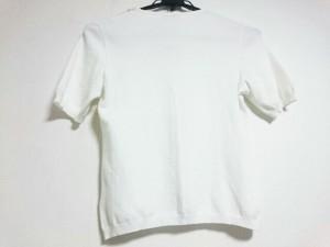 レリアン Leilian 半袖セーター サイズ11 M レディース 美品 白 フェイクパール【中古】