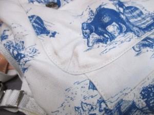 ポール&ジョーシスター Paul&Joe SISTER リュックサック レディース アイボリー×ライトブルー×ベージュ キャンバス【中古】