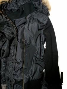 アビレックス AVIREX コート サイズM レディース 黒×カーキ モッズコート/ファー/冬物【中古】