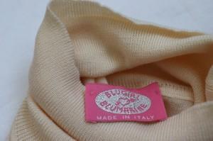 ブルマリン BLUMARINE 半袖セーター レディース 美品 アイボリーベージュ タートルネック【中古】