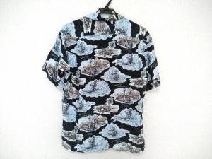 ショーナンボー Shonanbo 半袖シャツ サイズS メンズ 美品 ダークネイビー×ライトブルー×マルチ【中古】