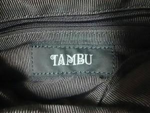 タンブゥ TAMBU ハンドバッグ レディース ブルー×黒×カーキ 豹柄 ハラコ×レザー【中古】