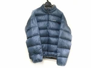 モンベル mont-bell ダウンジャケット サイズM メンズ ネイビー 冬物/ジップアップ【中古】