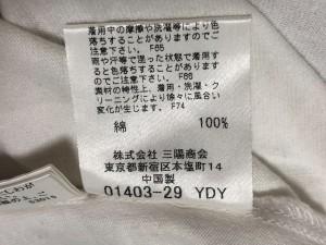バーバリーブルーレーベル Burberry Blue Label 半袖Tシャツ サイズ38 M レディース 白×ダークグレー×ピンク 一部チェック柄【中古】