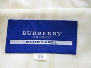 バーバリーブルーレーベル Burberry Blue Label コート サイズ38 M レディース アイボリー 冬物【中古】