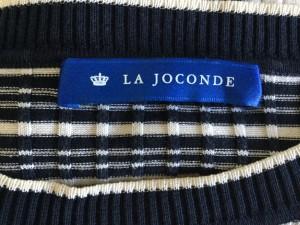 ラ ジョコンダ LA JOCONDE 七分袖カットソー サイズ38 M レディース 新品同様 ベージュ×黒 ボーダー【中古】