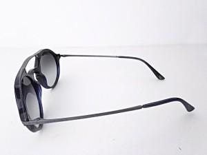 ジョルジオアルマーニ サングラス レディース 美品 AR8018 ネイビー×シルバー FRAMES OF LIFE プラスチック×金属素材【中古】