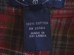 ラルフローレン RalphLauren 長袖シャツ サイズS メンズ レッド×グリーン×マルチ チェック柄【中古】
