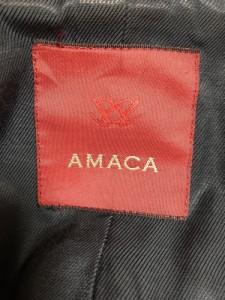 アマカ AMACA Pコート サイズ38 M レディース 黒 冬物【中古】